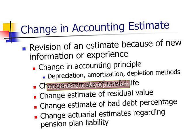 Změna účetního odhadu